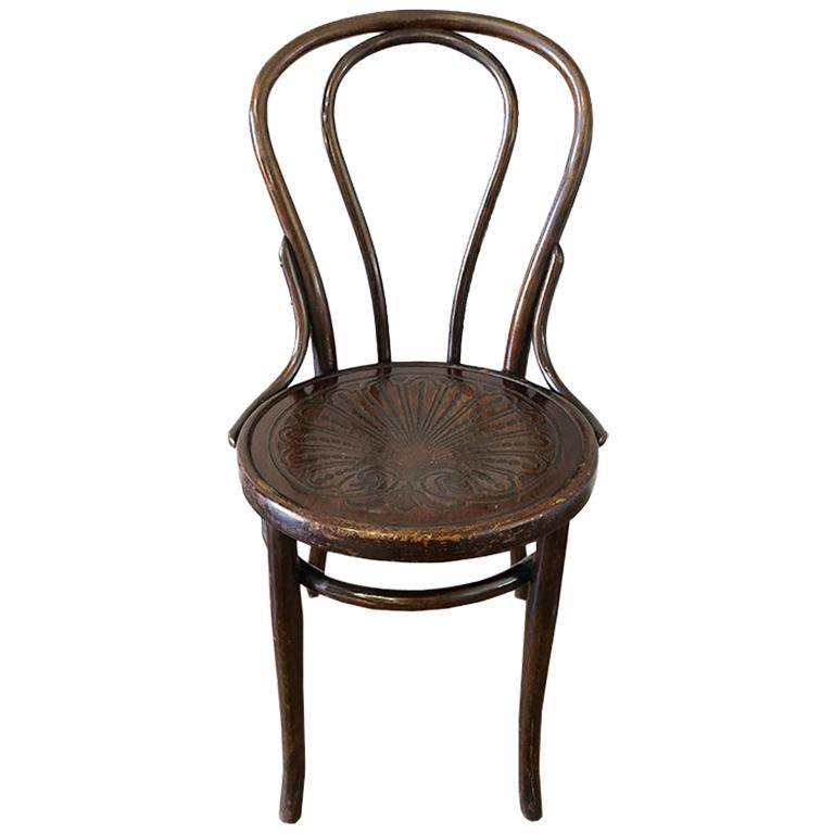 Bentwood Embossed Shell Mazowia Cafe Chair In The Style Of