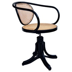 Bentwood Handwoven Rattan Swivel Chair, Model 5501 Thonet for ZPM Radomosk