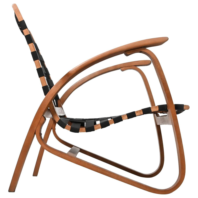 Bentwood Lounge Chair, Armchair by Jan Vaněk for UP Závody, Czech, 1930s
