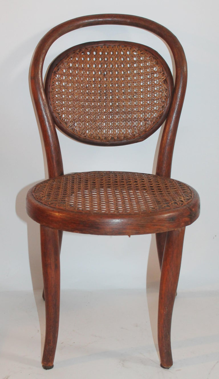 Bentwood Rocker and Chair with Cane Seats, 19th Century For Sale 3