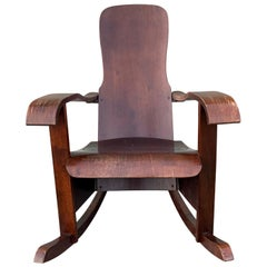 Bentwood Rocking Chair by Moveis Cimo Mid-Century Modern