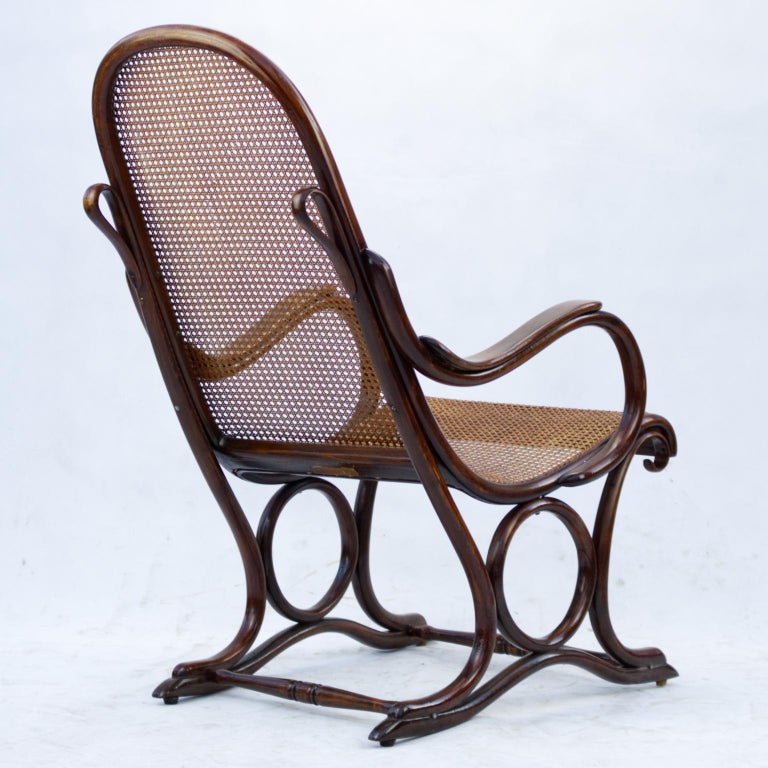Bentwood Salonfauteuil Easy Chair Thonet No. 1, circa 1890 For Sale 5