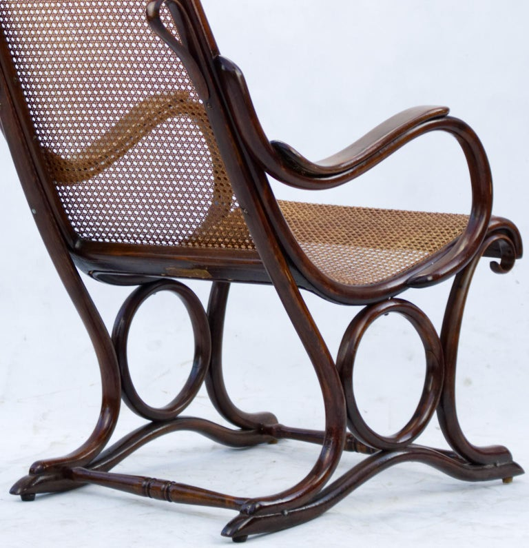 Bentwood Salonfauteuil Easy Chair Thonet No. 1, circa 1890 For Sale 6