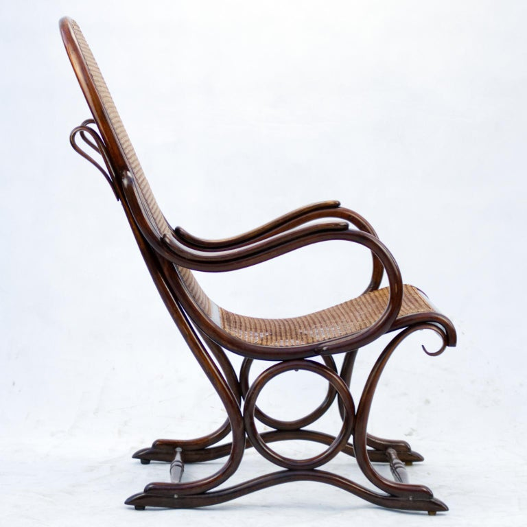 Bentwood Salonfauteuil Easy Chair Thonet No. 1, circa 1890 For Sale 7