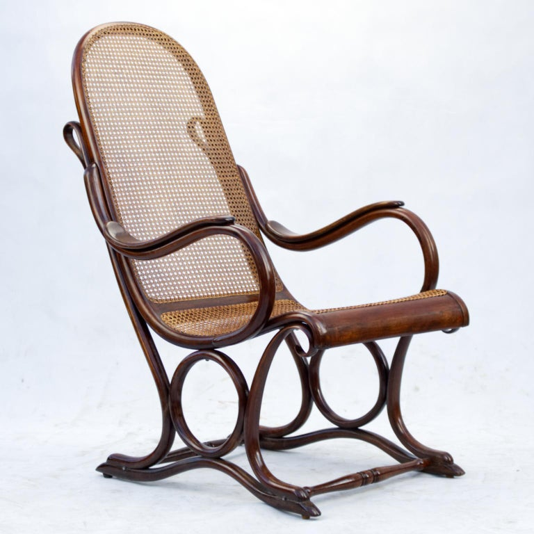 Bentwood Salonfauteuil Easy Chair Thonet No. 1, circa 1890 For Sale 8