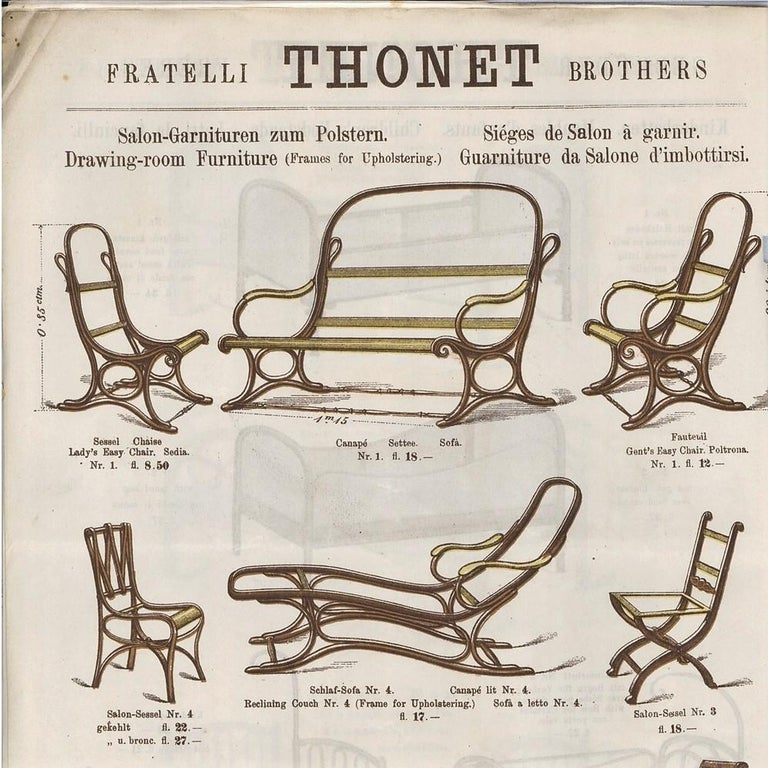 Bentwood Salonfauteuil Easy Chair Thonet No. 1, circa 1890 For Sale 9