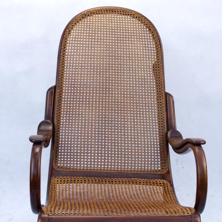 Art Nouveau Bentwood Salonfauteuil Easy Chair Thonet No. 1, circa 1890 For Sale