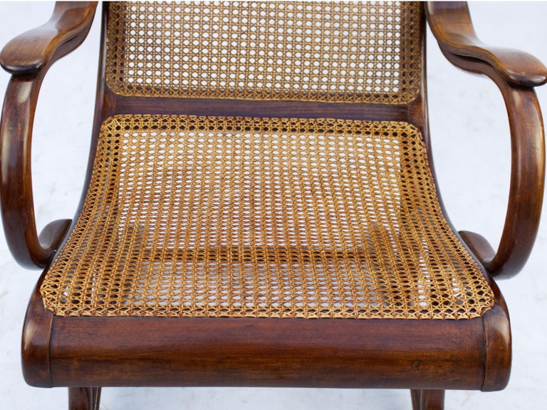 Austrian Bentwood Salonfauteuil Easy Chair Thonet No. 1, circa 1890 For Sale