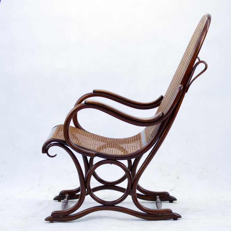 Bentwood Salonfauteuil Easy Chair Thonet No. 1, circa 1890 In Good Condition For Sale In Lucenec, SK
