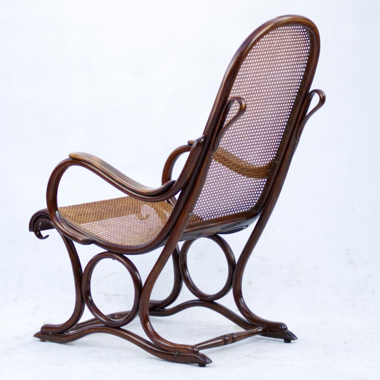 19th Century Bentwood Salonfauteuil Easy Chair Thonet No. 1, circa 1890 For Sale