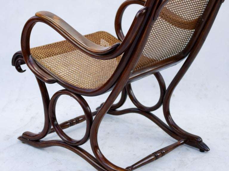 Cane Bentwood Salonfauteuil Easy Chair Thonet No. 1, circa 1890 For Sale