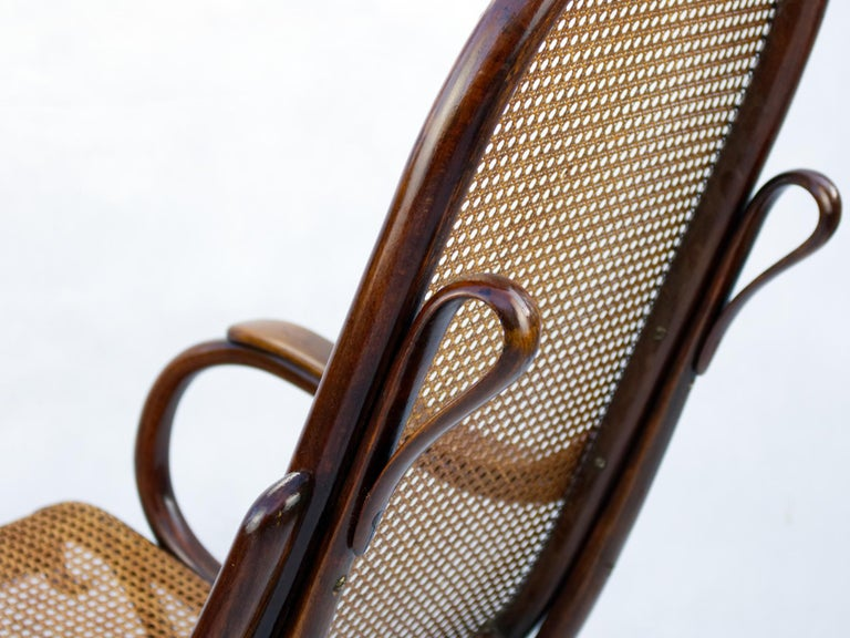 Bentwood Salonfauteuil Easy Chair Thonet No. 1, circa 1890 For Sale 1