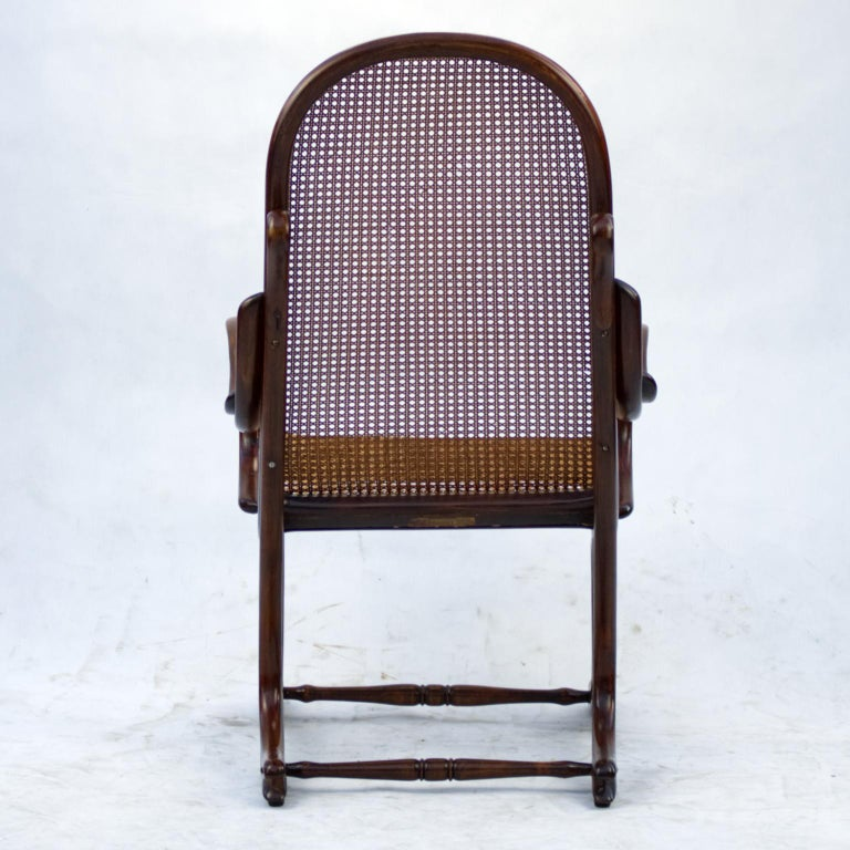 Bentwood Salonfauteuil Easy Chair Thonet No. 1, circa 1890 For Sale 2