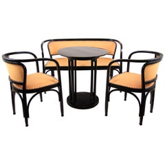 Bentwood Seating Set, G. Siegel + J. Hofmann Table J. Kohn, Austria, circa 1905