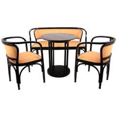 Bentwood Seating Set, G. Siegel + J. Hofmann Table J. Kohn, Austria, circa 1905