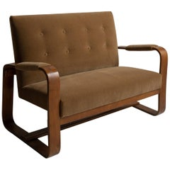 Bentwood Settee by Giuseppe Pagano