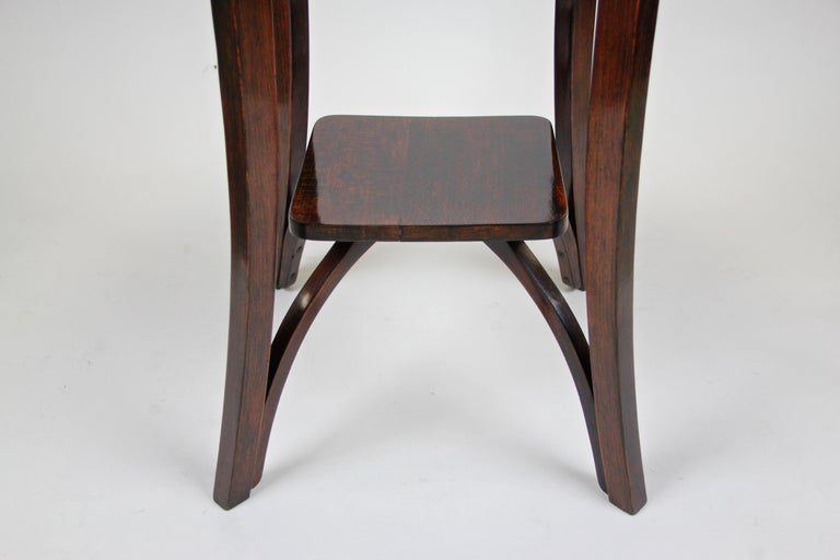 Stained Bentwood Side Table by Thonet Vienna Art Nouveau, Austria, circa 1905 For Sale