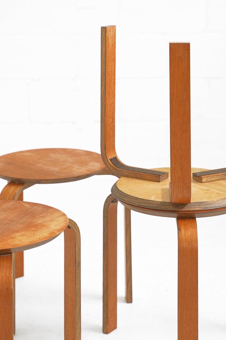 Bentwood Stool in the Style of Avlar Aalto for Artek For Sale 4