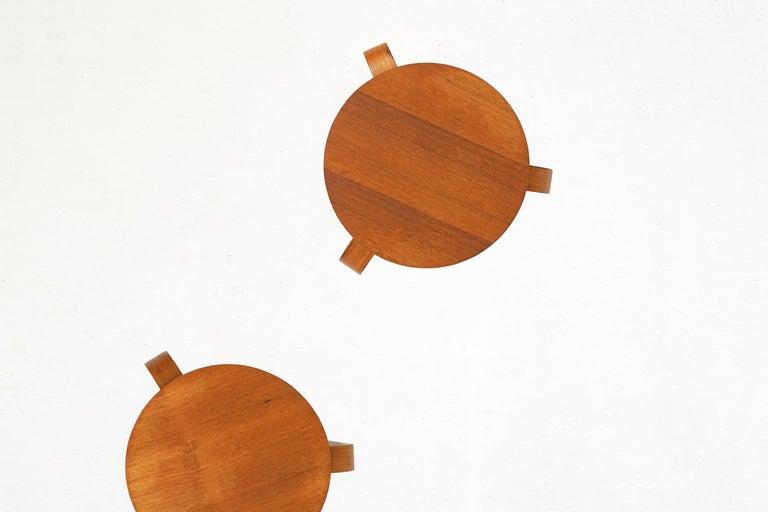 Mid-Century Modern Bentwood Stool in the Style of Avlar Aalto for Artek For Sale
