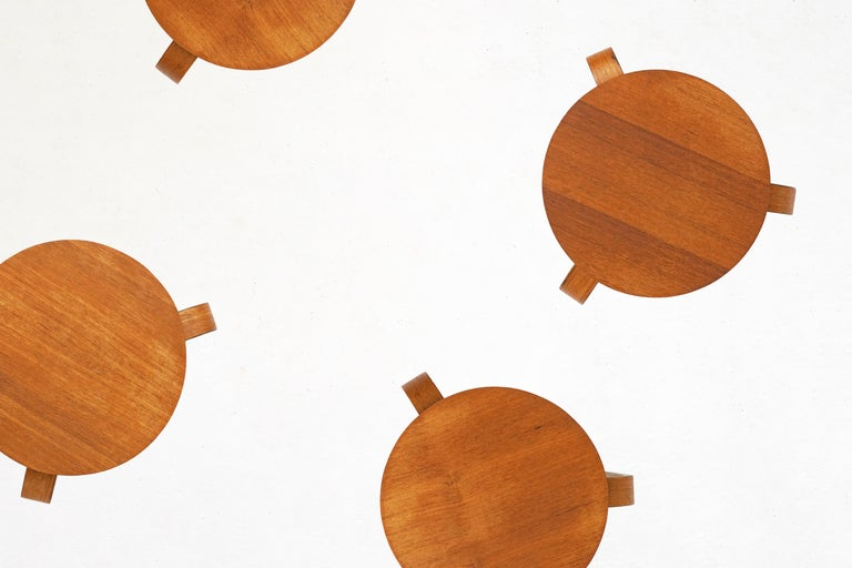 Bentwood Stool in the Style of Avlar Aalto for Artek In Good Condition For Sale In TORONTO, CA