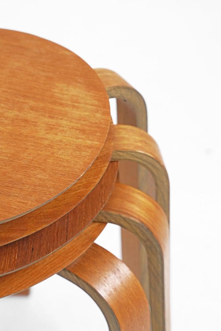 Bentwood Stool in the Style of Avlar Aalto for Artek For Sale 1