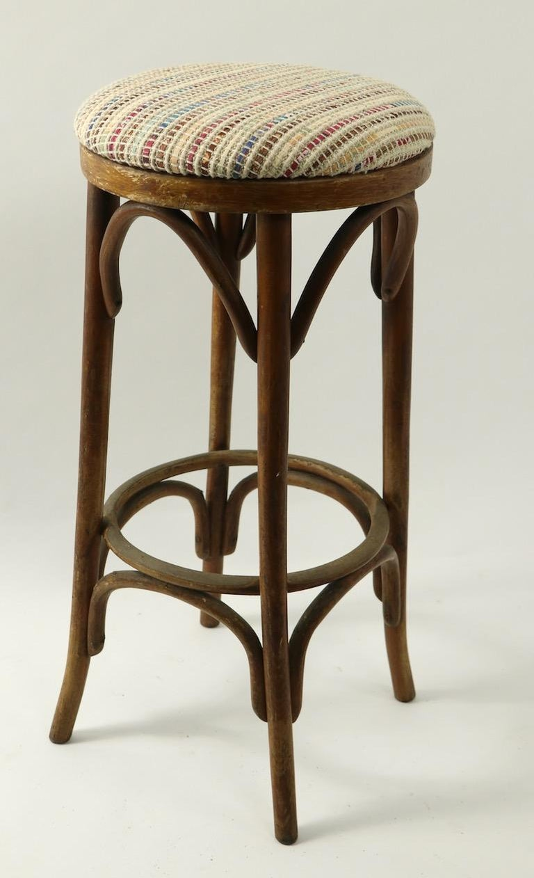 Bentwood Stools Attributed to Thonet 3 Available For Sale 6