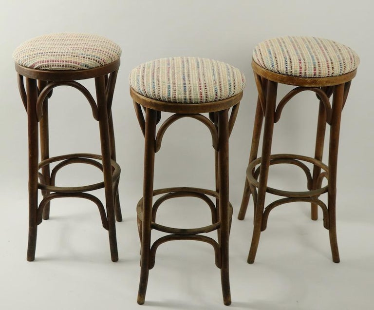 Bentwood Stools Attributed to Thonet 3 Available For Sale 7