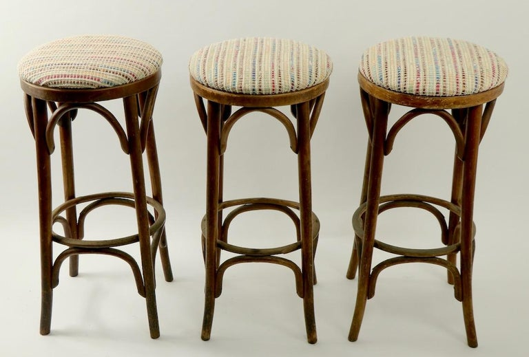 Vienna Secession Bentwood Stools Attributed to Thonet 3 Available For Sale