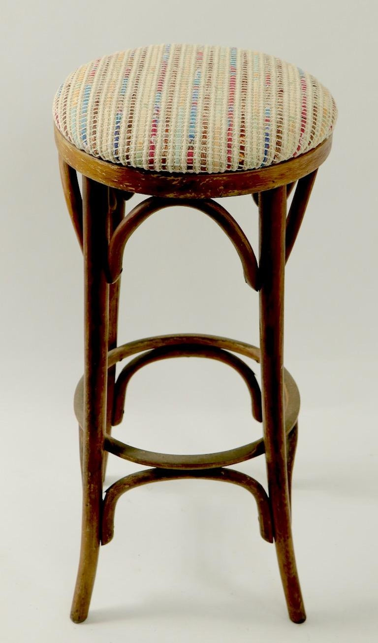 Bentwood Stools Attributed to Thonet 3 Available In Good Condition For Sale In New York, NY