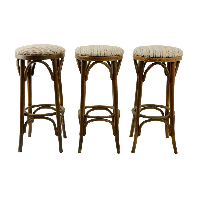 Bentwood Stools Attributed to Thonet 3 Available For Sale