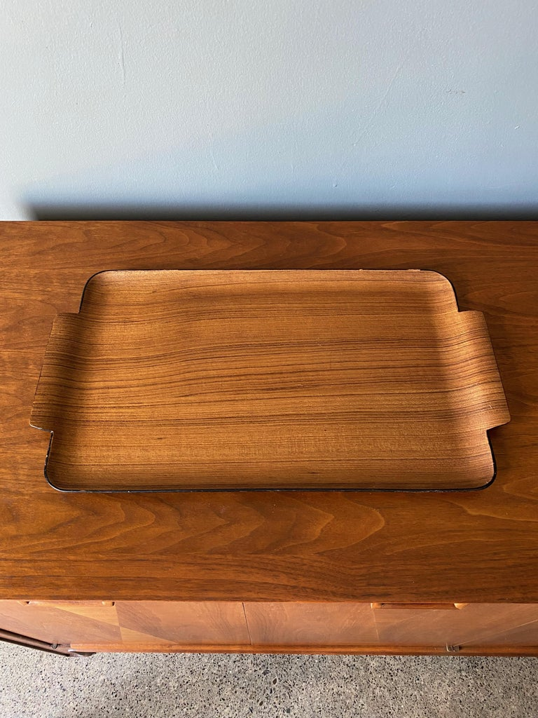 Bentwood teak tray. circa 1960.