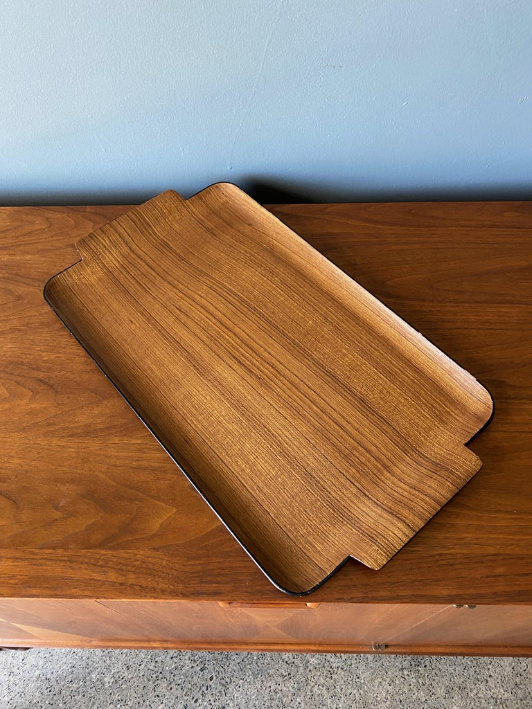 Japanese Bentwood Teak Tray circa, 1960 For Sale