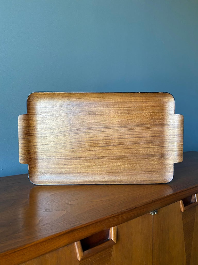 Bentwood Teak Tray circa, 1960 For Sale 1