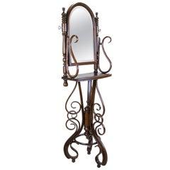 Bentwood Vanity Mirror Table by Thonet, Austria, circa 1895