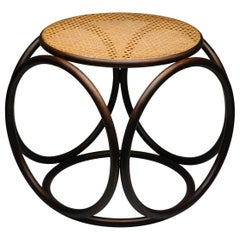 Bentwood Vintage Circular Stool by Thonet