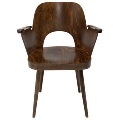 Bentwood Writing Desk Armchair by Radomír Hofman for Ton, No1