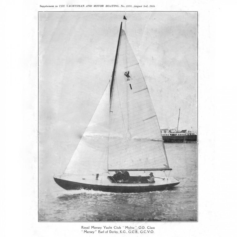 Benzie's Sterling Silver Model Yacht, Hallmarked, 1935 For Sale 8