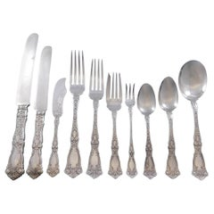 Berain by Wallace Sterling Silver Flatware Service 12 Set 125 Pcs Dinner