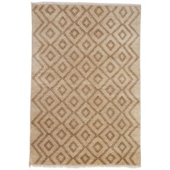 Berber Hand-Knotted Area Rug in Wool by The Rug Company
