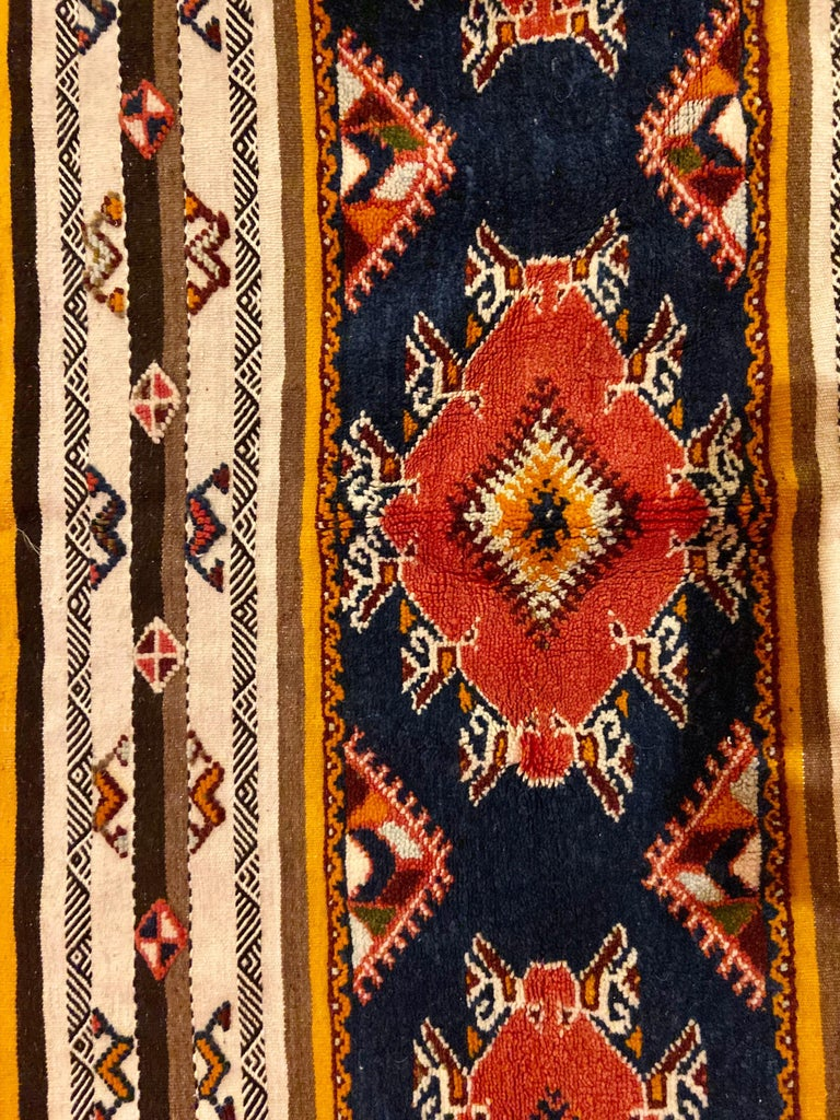 Berber Rug / Carpet, Handwoven Wool with Regal Pattern, Moroccan In Good Condition For Sale In Stamford, CT