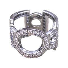 Berca 1.30 Carat White Diamond Contemporary Cocktail Ring
