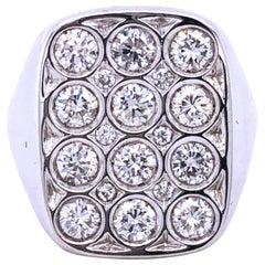 Berca 1.56 Carat White Diamond Cocktail Ring