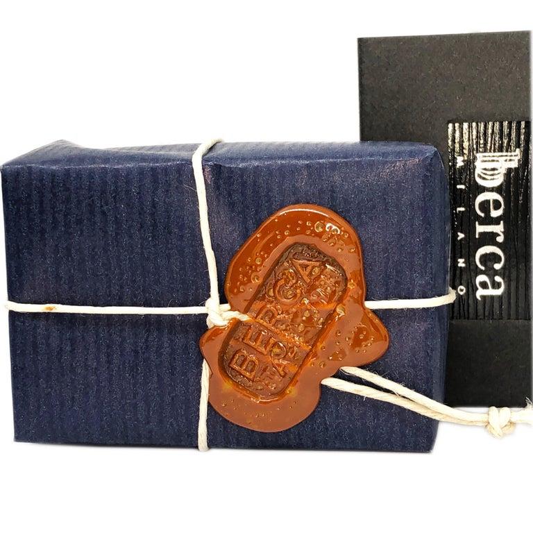 Berca Natural Iolite Navy Blue Hand Enameled Stirrup Sterling Silver Cufflinks For Sale 8