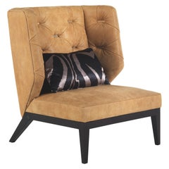 Berchet Armchair in Leather by Roberto Cavalli Home Interiors