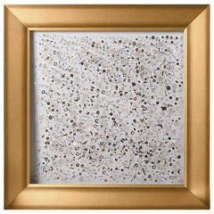 "Berd Vay'e Limited Edition ""Time Framed"" Lucite Sculpture ""Gold leaf"" 'Large'"