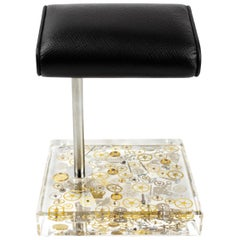 Berd Vay'e x the Watch Stand Fine Timepiece Lucite Desk Accessory 'Stainless'