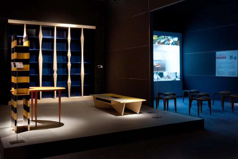 Berenice, Bookcase with Hand Turned Lances in maple wood, by Luca Scacchetti In New Condition For Sale In Salizzole, IT