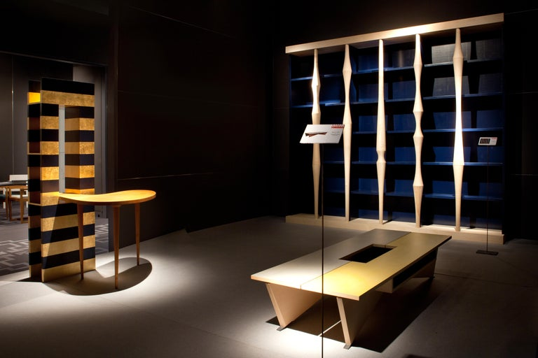 Contemporary Berenice, Bookcase with Hand Turned Lances in maple wood, by Luca Scacchetti For Sale