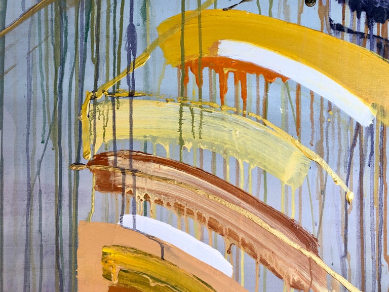 Large Abstract Expressionist New York Modernist Woman Artist Bold Oil Painting For Sale 9