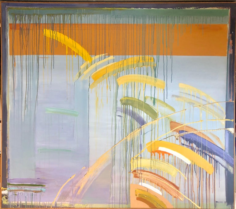Large Abstract Expressionist New York Modernist Woman Artist Bold Oil Painting 9